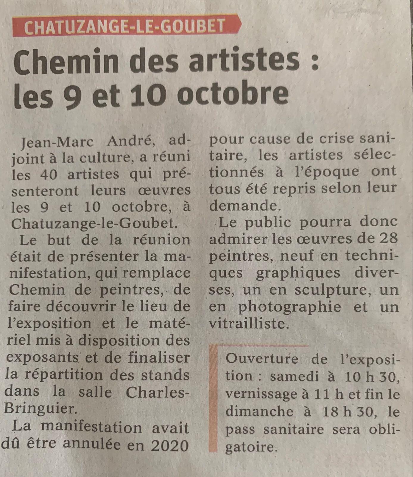La Symphonie de Couleurs avec ses artistes amateurs, vous invite à Chatuzange le Goubet