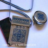 Mirror and Phone case cross stitch pattern by Agnès Delage-Calvet