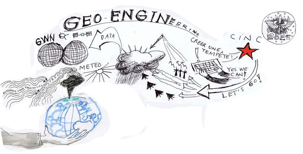 """Une sélection de mes dessins sur l'ingénierie climatique- les origines, les auteurs, les théories- avec un point de vue à contre-courant de la """"pensée unique""""! En regardant le ciel, je me demande: QUI DESSINE DANS LE CIEL?  1er novembre 2013"""
