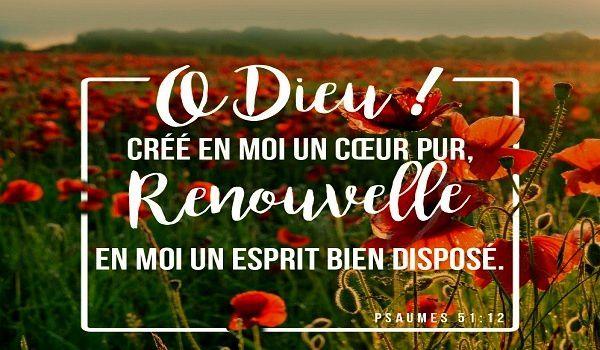 Crée en moi un cœur pur ô mon Dieu