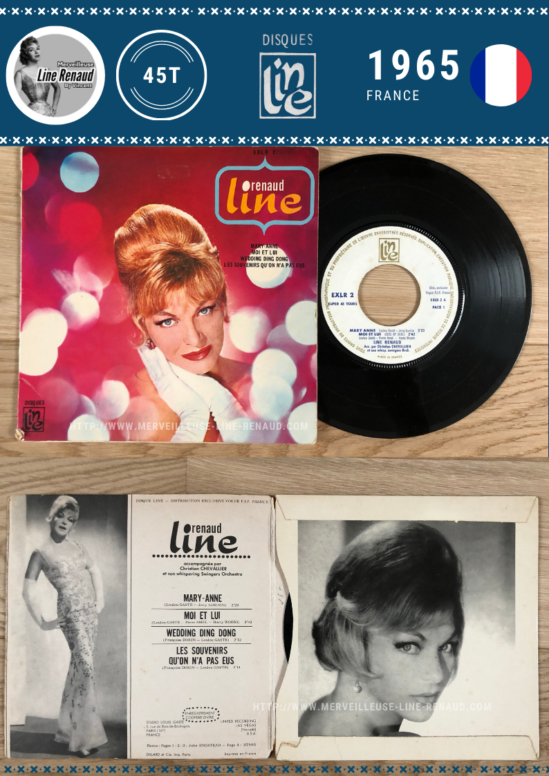 45 TOURS: 1965 Disque Line - EX LR 2 - Line Renaud