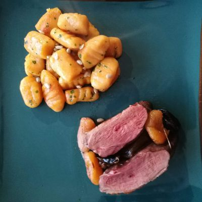 Magrets de canard aux fruits secs