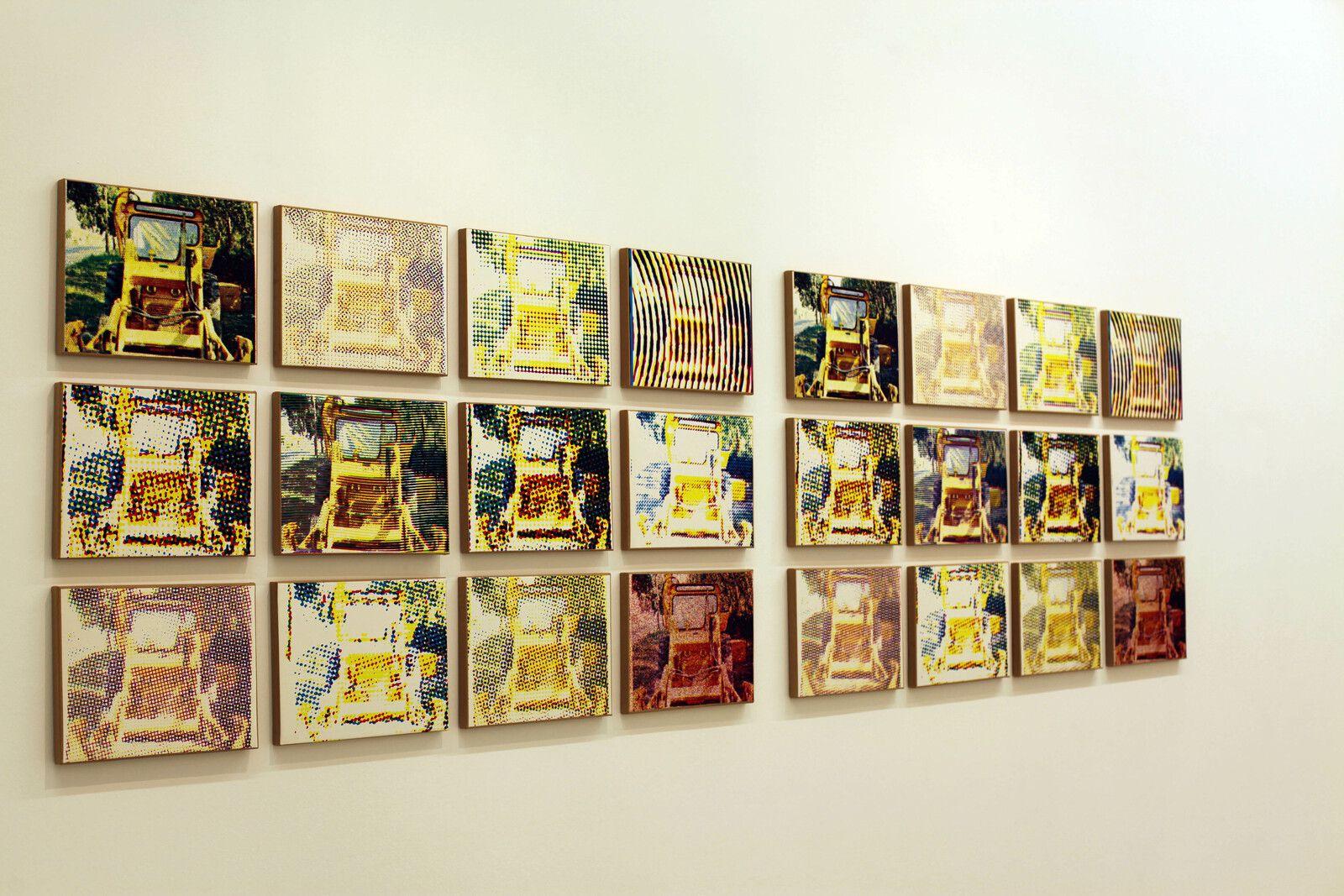 """""""Bulldozers"""", 1973 de Alain JACQUET - Courtesy de l'artiste et de la galerie Perrotin © Photo Éric Simon"""