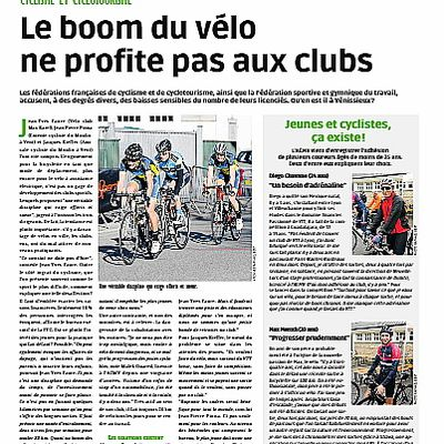 Le boom du vélo ne profite pas aux clubs