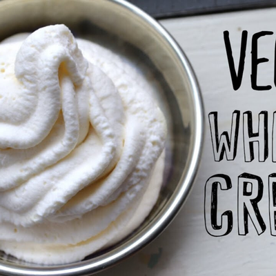 How to make vegan non-dairy whipped cream?