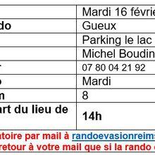 Rando mardi 16 février à Gueux