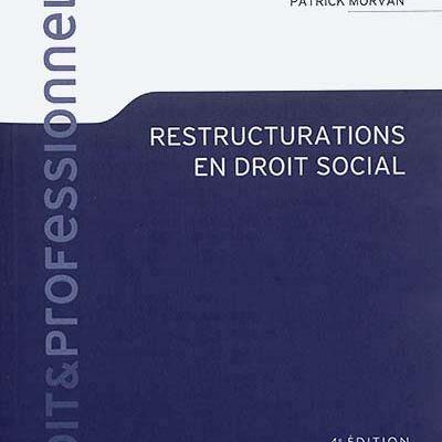 La 5e édition de Restructurations en droit social est parue