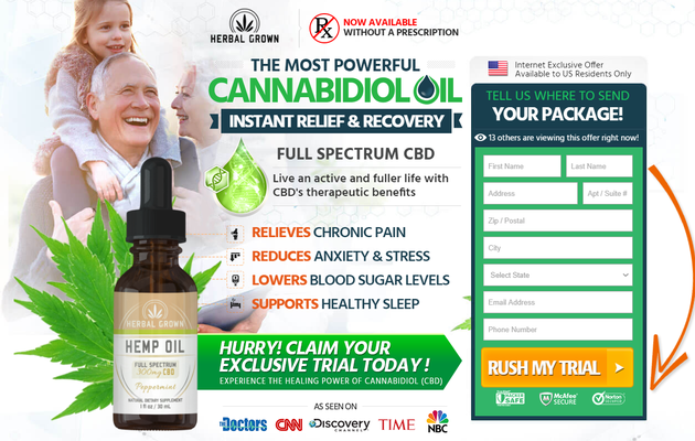 Herbal Grown CBD Oil : Reduces Stress & Anxiety Levels