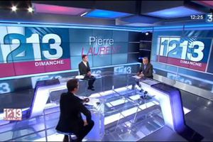 Pierre Laurent au 12/13 France 3