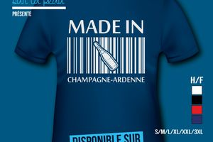 T-shirt: France - Champagne-Ardenne - Made in Champagne-Ardenne​.