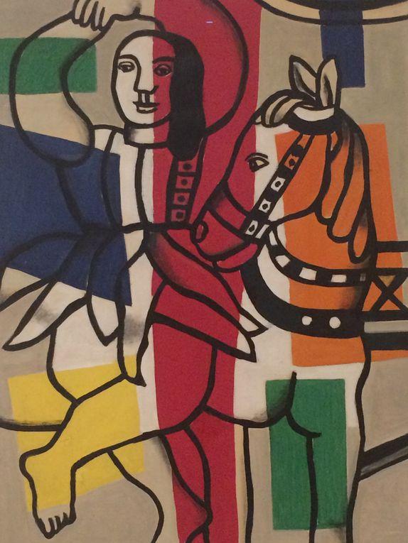 Fernand Léger : Composition au parapluie et la danseuse au cheval
