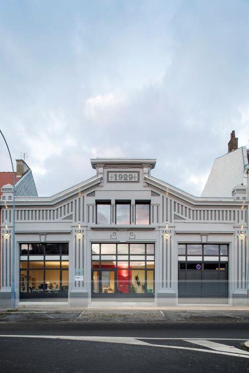 Coup de projecteur sur une magnifique maison Art déco, sise au 25 rue Pasteur (construite en 1929, elle était le garage d'automobiles Schlosser). Rénovation (Prix ASSEMCA) : Bertrand Morchain, architecte - Photographies Thibault Savary