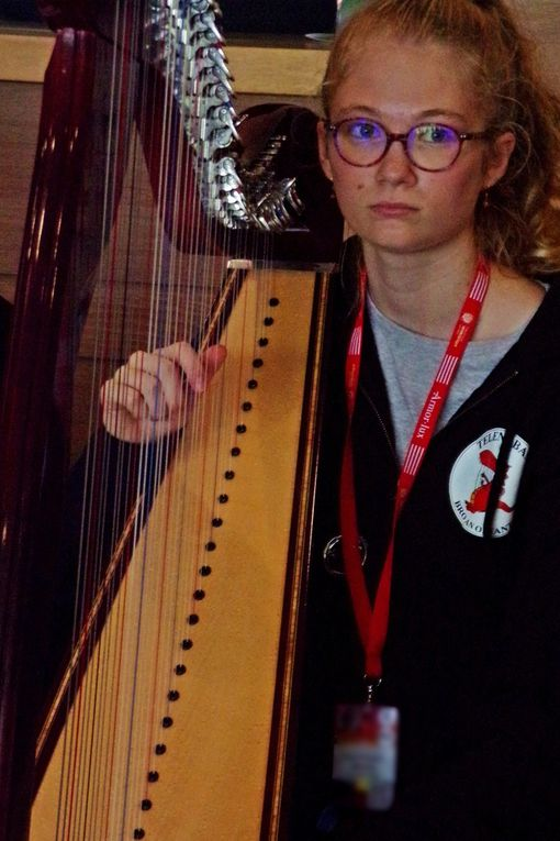 Les harpistes ont eux aussi élu domicile depuis quelques années dans le hall du Palais