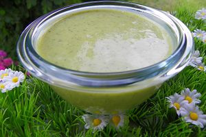SOUPE FROIDE DE COURGETTES (thermomix)