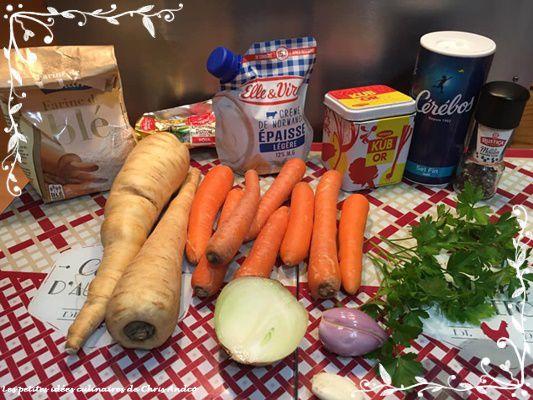 Duo de panais et carottes à la crème de Raymonde
