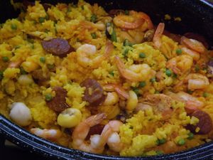 Paella cuite au four... super facile!