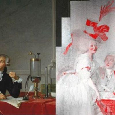 Comment le peintre David a escamoté les signes extérieurs de richesse du couple Lavoisier dans son célèbre tableau.