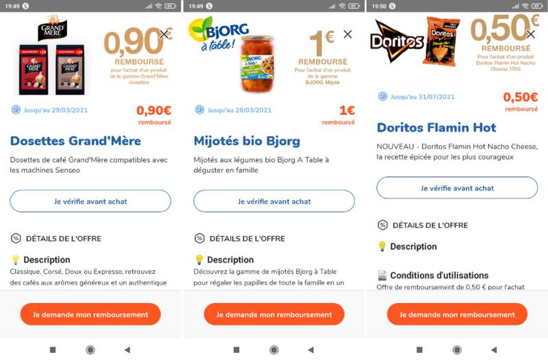 captures d'écran de l'application smartphone FidMe (tous droits réservés) @ Tests et Bons Plans