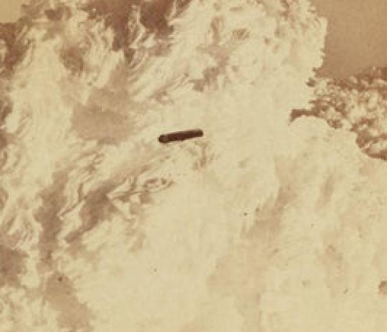 Vaissseau photographié à partir du sommet du mont Washington, Amériquedu Nord, 1870.
