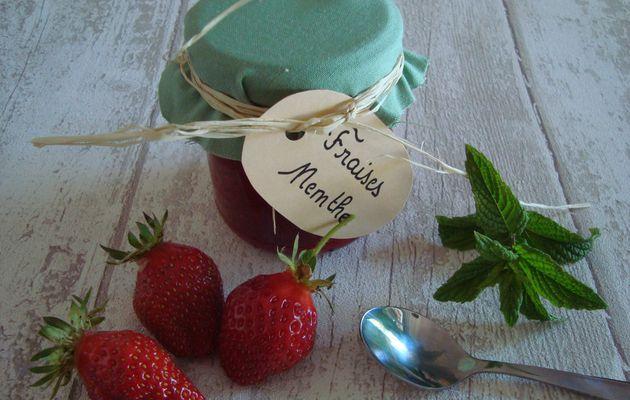 Confiture fraise / menthe