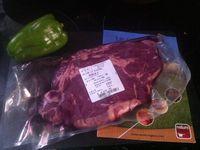 Entrecôte de bœuf la cuisine bio dans nos assiettes .
