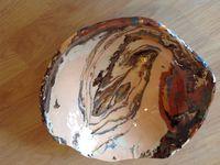 Tableau faïence plus ou moins diamètre 40cm pièces uniques