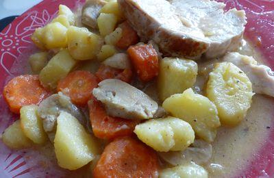 Rôti de dinde aux légumes