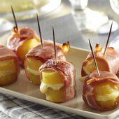 Petites bouchées de pompadour au chevre et au lard - La Pompadour : la pomme de terre Label Rouge