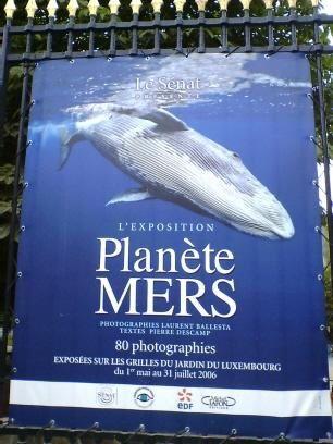 """Exposition Plan&egrave;te Mers sur les grilles des jardins du Luxembourg &agrave; Paris du 1er mai au 31 juillet 2006 <span style=""""font-style: italic;"""">(Vous trouverez prochainement ici et l&agrave; la suite des 80 photos...)</span>"""