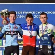 Les photos de Sly Sly Sport>>>Clément Venturini (AG2R La Mondiale) a remporté, à Flamanville (Manche), le Championnat de France Elites Hommes de cyclo-cross devant Joshua Dubau (Team Peltrax-CS Dammarie-lès-Lys) et Fabien Doubey (Circus-Wanty Gobert).  Déjà lauréat l'an passé, Clément Venturiniconserve ainsi son titre. -(Sly Sly Sport - Actualité - DirectVelo)