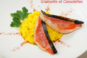 Rougets en Risotto