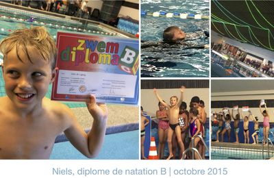 diplome de natation B: BRAVO niels!