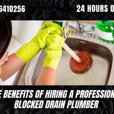 The Benefits of Hiring a Professional Blocked Drain Plumber