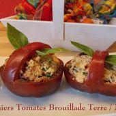 Paniers de Tomates, Brouillade Terre/Mer du Petit Bistro - Chez Mamigoz