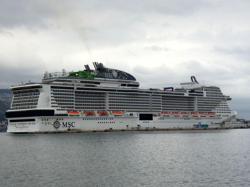 MSC GRANDIOSA  , à quai à la Seyne sur mer le 10 janvier 2020