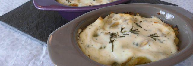 Petits gratins de courgettes au fromage Tartare