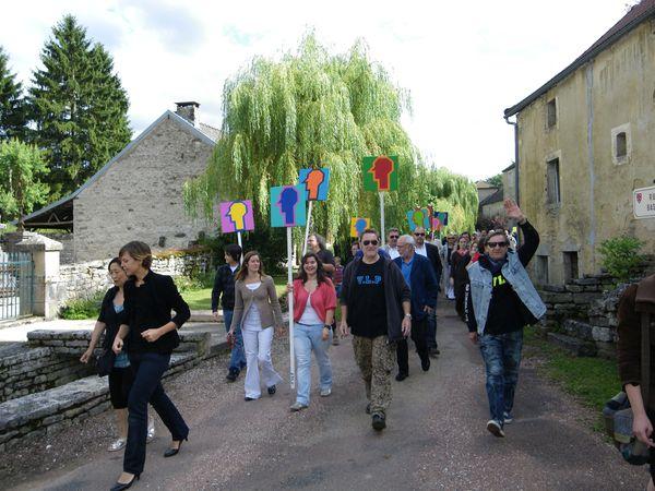 La manif Zuman en Bourgogne et VLP avec Villeglé et Zlotykamien