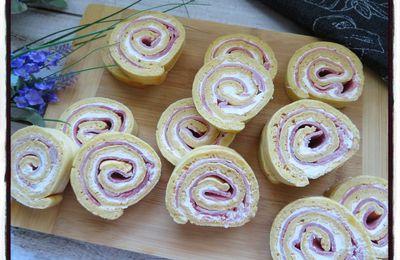 Gâteau roulé au jambon et au saint môret
