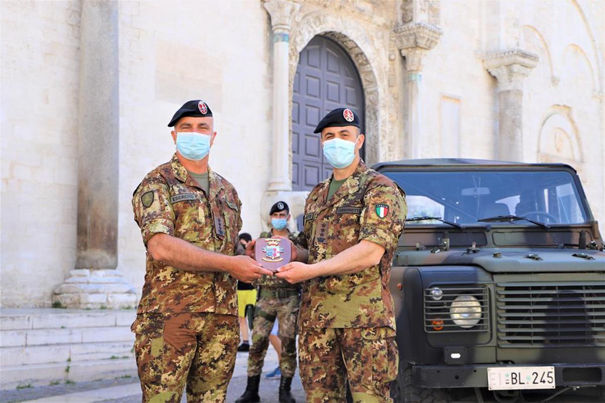 """Puglia:passaggio di consegne al Comando del Raggruppamento""""Puglia e Basilicata""""in Operazione """"Strade Sicure"""""""