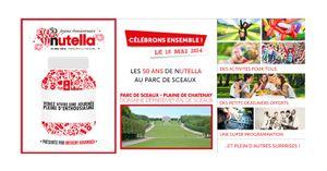 Buzz: Fêtez les 50 ans de Nutella aux parc de sceaux le 18 mai !