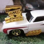 1969 PONTIAC GTO THE JUDGE HOT WHEELS 1/64 DRAGSTER TOONED GROS MOTEUR - car-collector.net