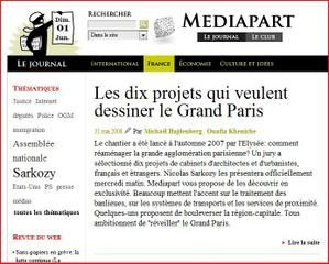 L'avenir du Paris métropolitain, l'article de Mediapart