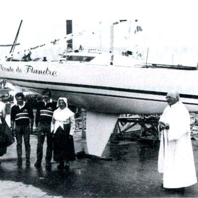 Baptême du bateau Comte de Flandre 1984