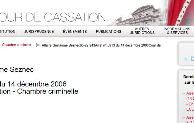 Affaire Seznec : L'arrêt de la Cour de cassation du 14 décembre 2006.