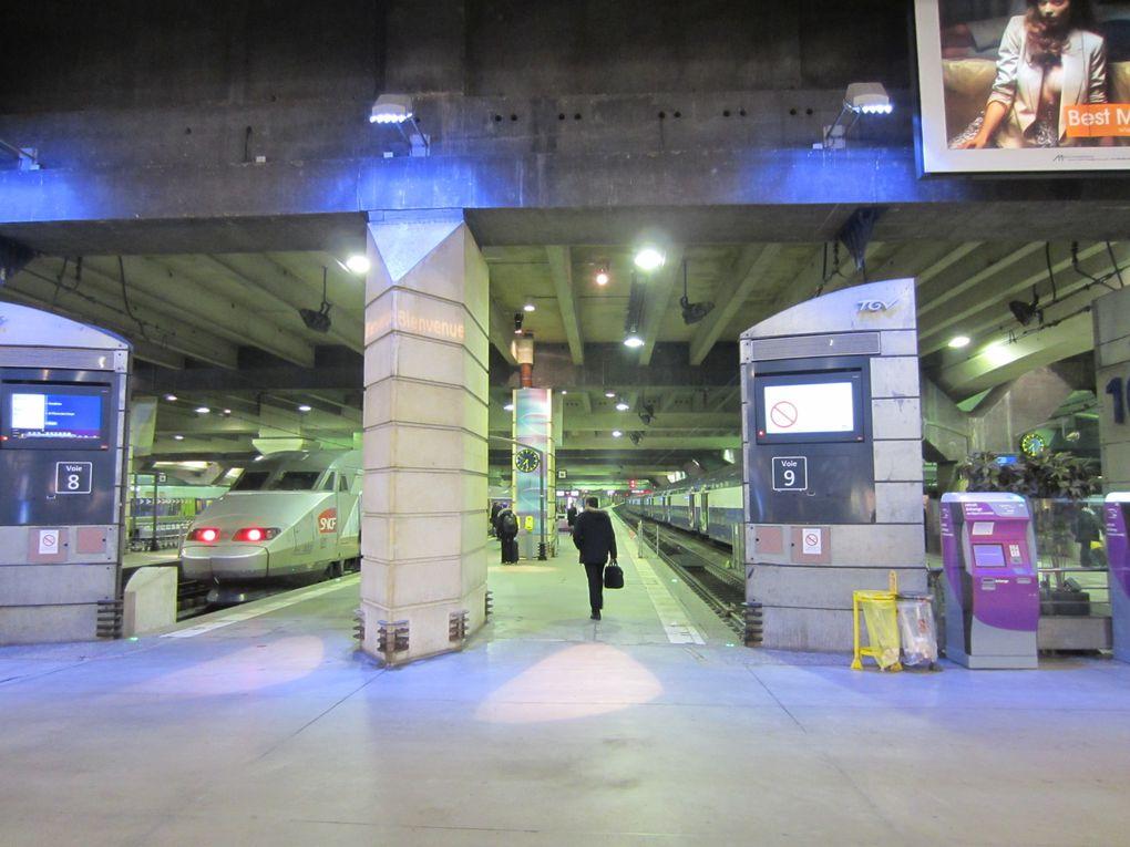 Gare Montparnasse Paris Arrive du TGV de Rennes le 31 janvier 2007; Départ pour Nantes 2012 Photos: Emmanuel CRIVAT