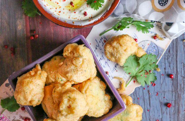 Beignets de chou-fleur & sa sauce à la coriandre