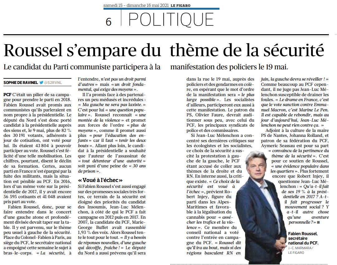 Fabien Roussel s'empare du thème de la sécurité