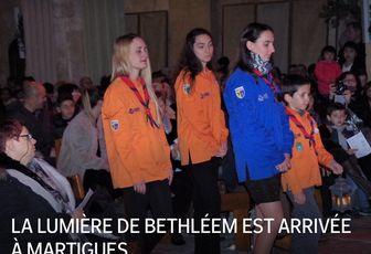 LA LUMIÈRE DE BETHLÉEM EST ARRIVÉE À MARTIGUES