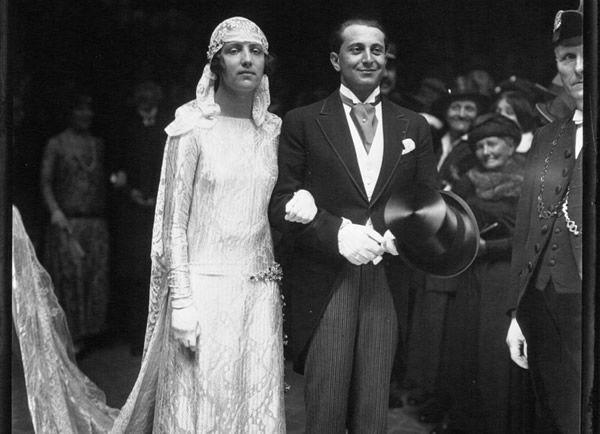 James de Rothschild lors de son mariage avec Mlle Claude Dupont.