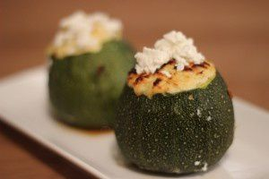 COURGETTES FARCIES POULET CURRY FETA
